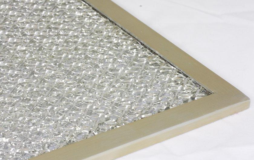EMI-Lüftungsgitter mit Staubfilter aus Aluminium