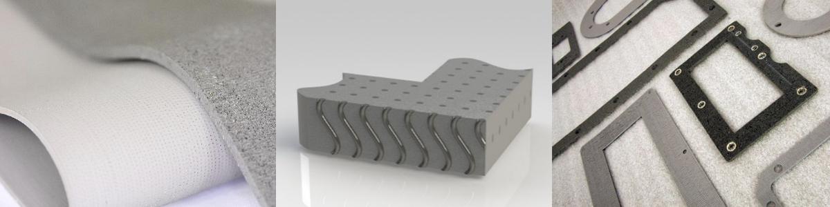 Silikon mit gerichteten Drähten (Platten, Querschnittabbildung, Flachdichtungen)